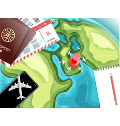 Travel accessories vacation concept vector