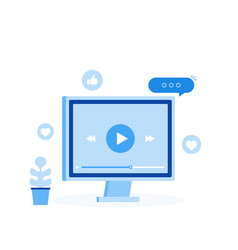 Video tutorials online webinar vector