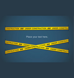 yellow tape vector image