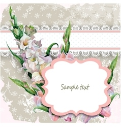 Beautiful vintage card with a hand painted flower vector image vector image