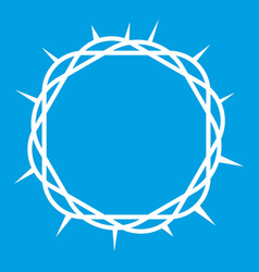 crown of thorns icon white vector image