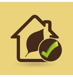 ecology concept with home vector image