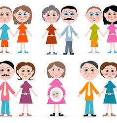 Family Members Set Isolated on white Backgro vector image vector image