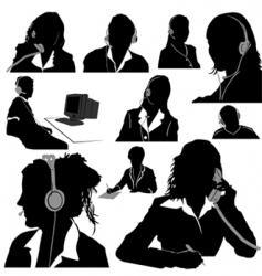 secretary and call center vector image
