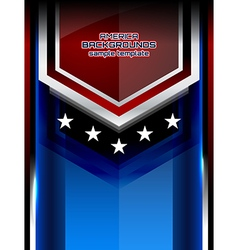 usa backgrounds modern style vector image vector image