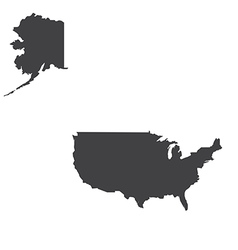USA map silhouette vector image vector image