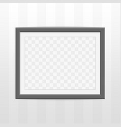 black photo frame vector image vector image