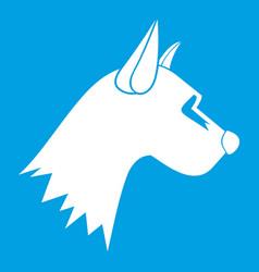 Dog icon white vector