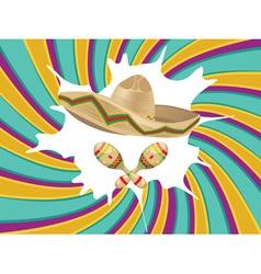 Sombrero and Maracas vector image