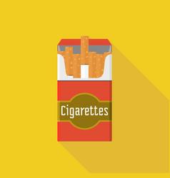 vintage open cigarette pack vector image