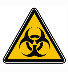 warning biohazard sign or symbol vector image vector image
