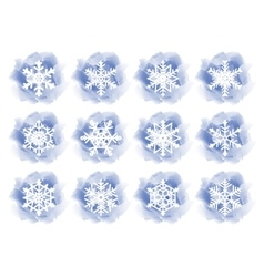 Winter backgrounds with snowflake vector image