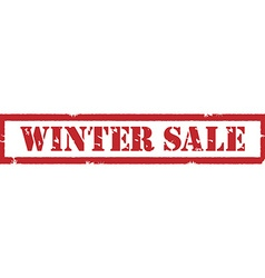 Winter sale stamp vector image