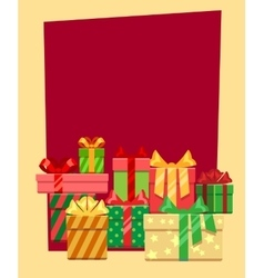 Christmas frame or greeting card template vector image vector image