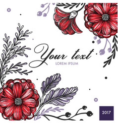 colored floral spring background vector image vector image