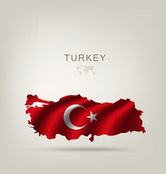 Flag of Turkey as a country vector image vector image