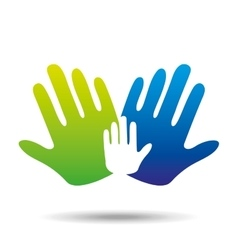 hands family concept icon design vector image