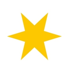 star gold isolated icon vector image
