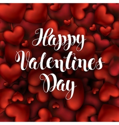 Valentines Day Calligraphy Lettering Background of vector image vector image