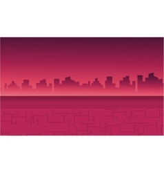 Landscape city for backrgounds game vector image vector image