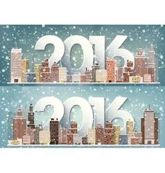 2016 Winter urban landscape vector