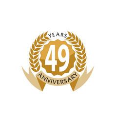 49 years ribbon anniversary vector