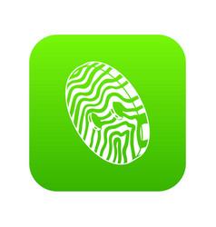 abstract linear clothes button icon green vector image