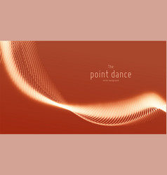 Abstract red particle wave points array vector