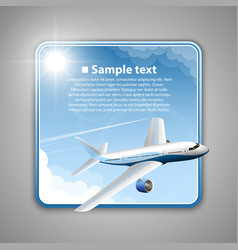 airfare banner vector image vector image