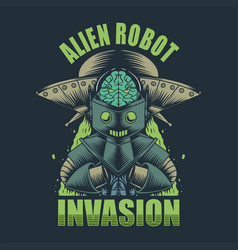 Alien robot invasion vector