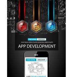 App development infographic concept background vector