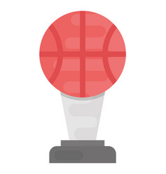 Basketball trophy vector