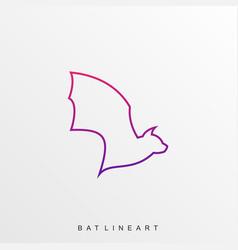Bat flying template vector