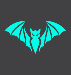 Bat glyph icon halloween and scary animal sign vector