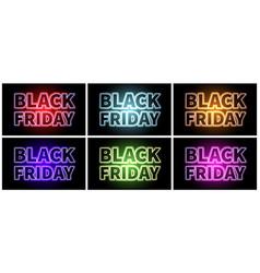black friday banner set vector image