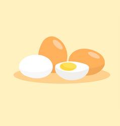 boiled egg isolated on white background vector image