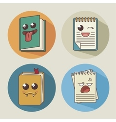 books set character icon vector image