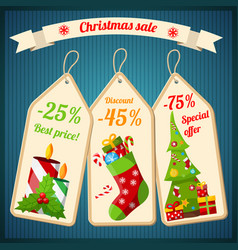christmas sale design concept vector image