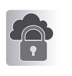 cloud padlock connect icon vector image