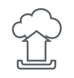 Cloud upload flat icon sign logo vector