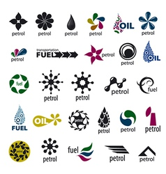 Collection logos and fuel oil vector