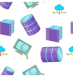 Computer data pattern cartoon style vector image