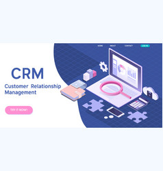 customer relationship management concept crm vector image