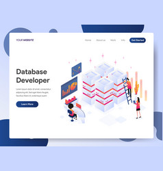 database developer isometric concept vector image