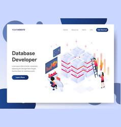 Database developer isometric concept vector
