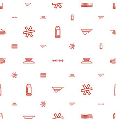 Defense icons pattern seamless white background vector