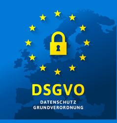 Dsgvo - datenschutz-grundverordnung vector