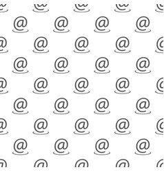 email address pattern seamless vector image
