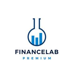 finance lab logo icon vector image