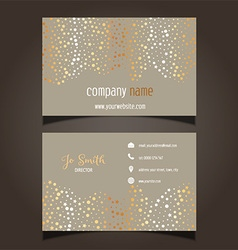 Gold stars business card layout 0605 vector